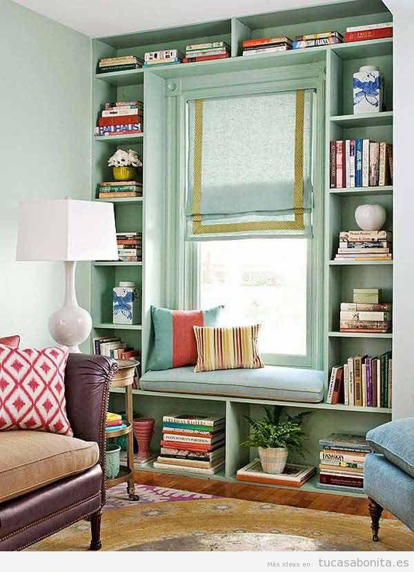 Rincones con muebles y cojines perfectos para leer en casa 10