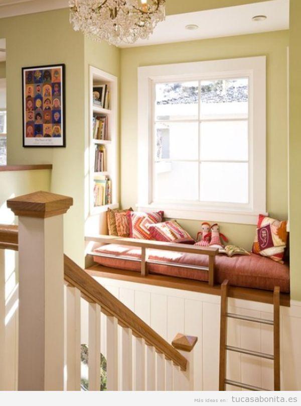 Rincones con muebles y cojines perfectos para leer en casa