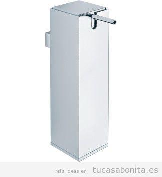 Dosificador diseño para baño acabado cromo