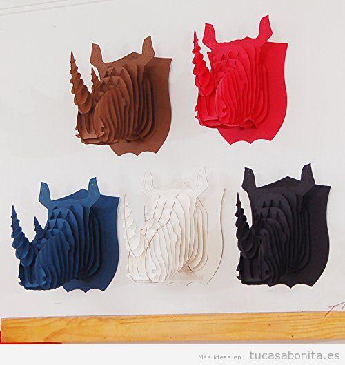 Comprar online cabeza rinoceronte puzzle 3D