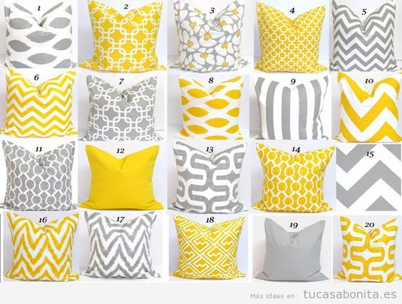 Decoración de casa en tonos amarillos para verano, textiles