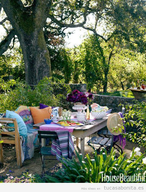 Ideas decorar casa en verano. sacar los muebles fuera