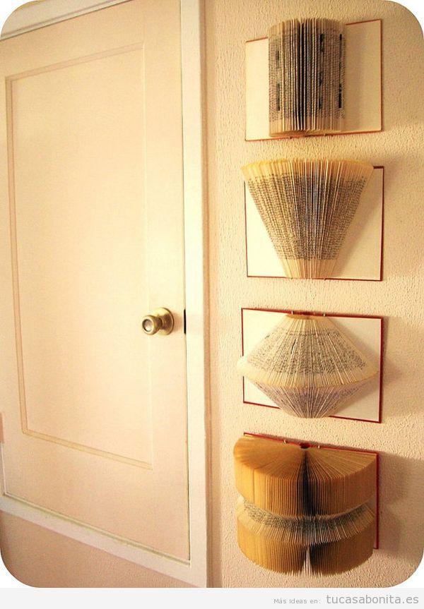 Usa libros para decorar tu casa y no solo estanter as - Libros antiguos para decoracion ...