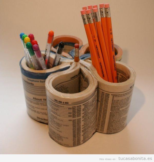 Usa libros para decorar tu casa ¡y no solo estanterías!
