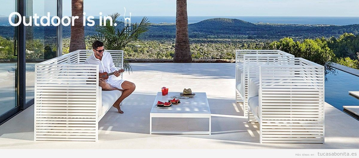 Tumbonas tu casa bonita ideas para decorar pisos modernos for Sofa exterior diseno