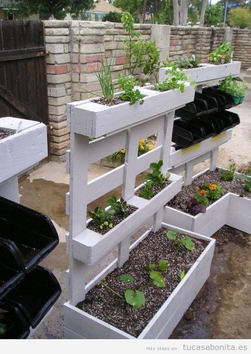 Jardinera DIY hecha con palets