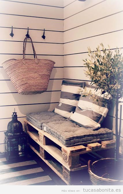Sofás jardín DIY hecha con palets