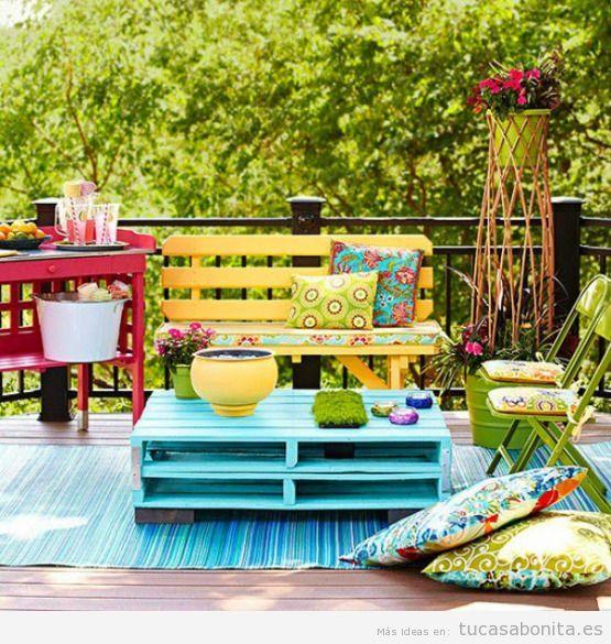 Mesas y sofás jardín DIY hecha con palets