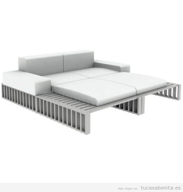 Sofá cama exterior de diseño 2