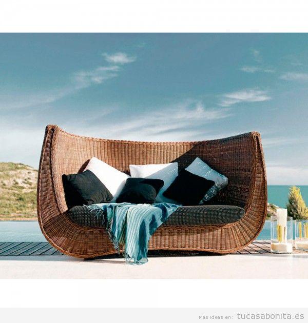 Sofá exterior diseño fibra sintética redonda de polietileno