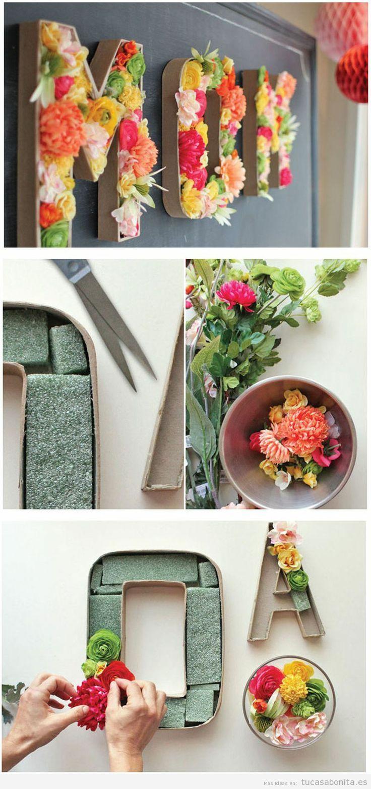 Manualidades con papel para decorar tu casa DIY Tu casa Bonita