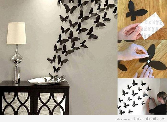 o diy wall art para decorar pared de casa varias papel