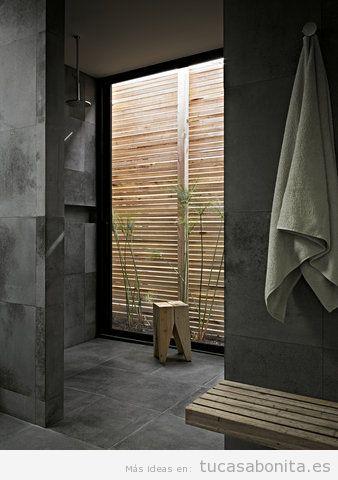 Baño con decoración estilo japonés