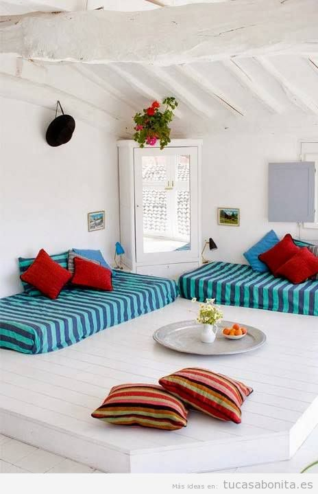 Ideas para decorar salas de estar dormitorios balcones y jardines estilo chill out tu casa - Espacio chill out ...