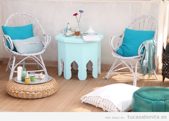 Ideas para decorar salas de estar, dormitorios, balcones y jardines estilo chill out