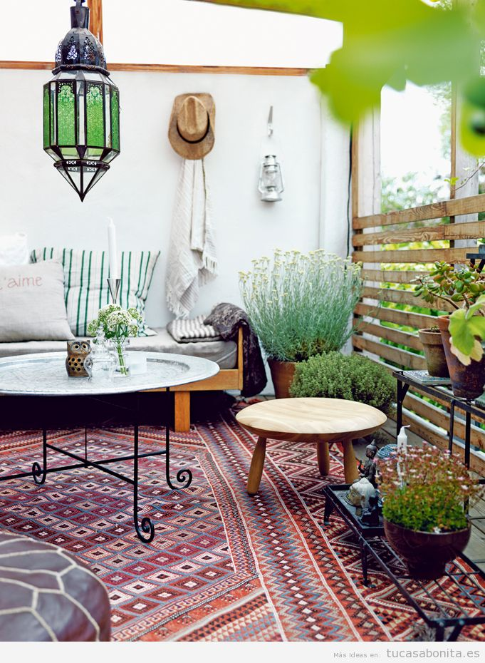 Ideas para decorar salas de estar dormitorios balcones y for Chill out jardin