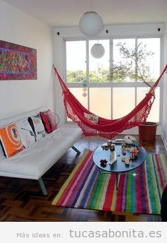 Sala de estar tu casa bonita ideas para decorar pisos for Decoracion piso hippie