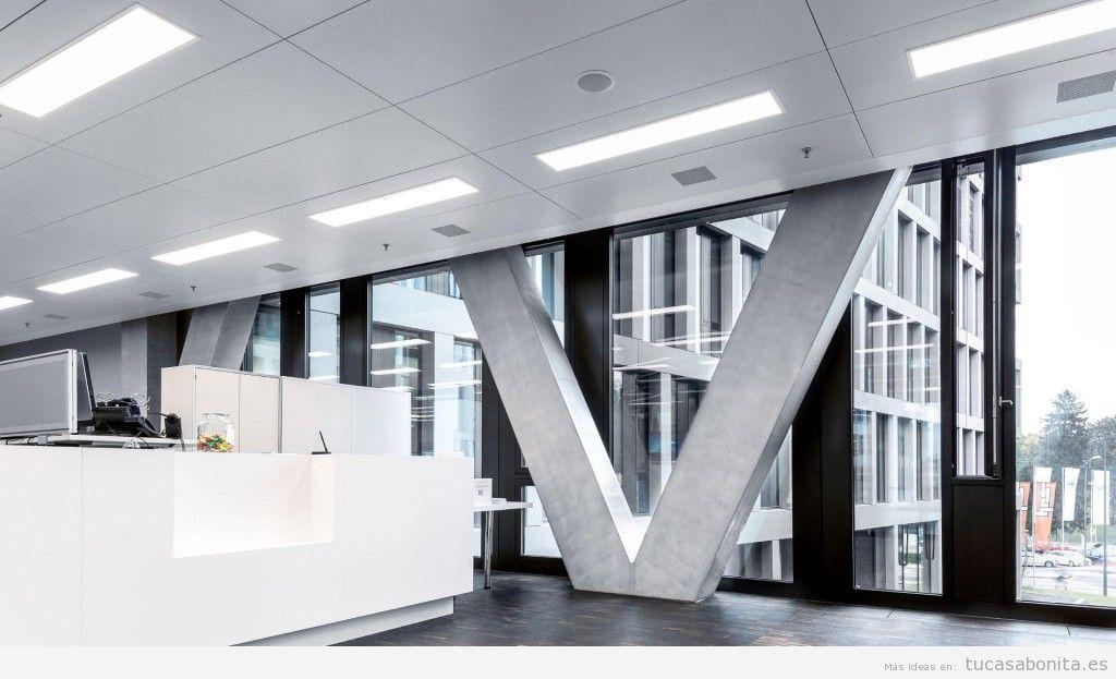 Iluminación led fría para oficina