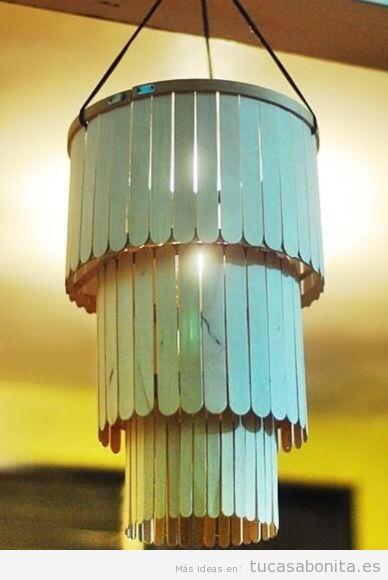 Bote DIY hecha con palitos de polo para decorar casa