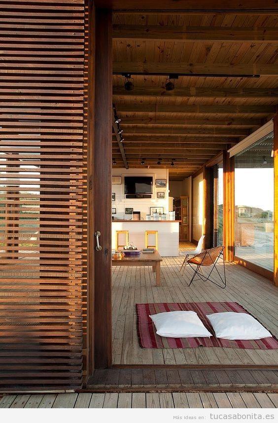 Persianas de madera para terrazas 2