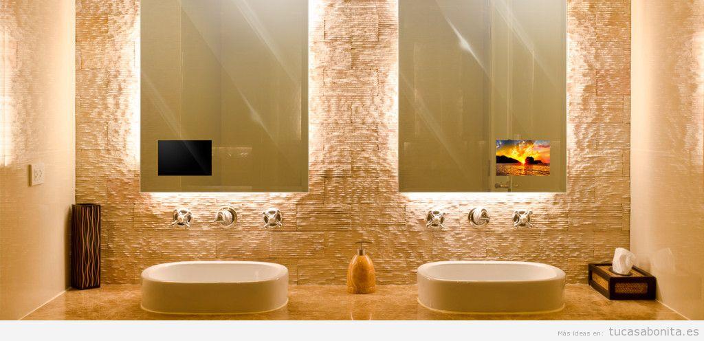 Televisor oculto espejo baño