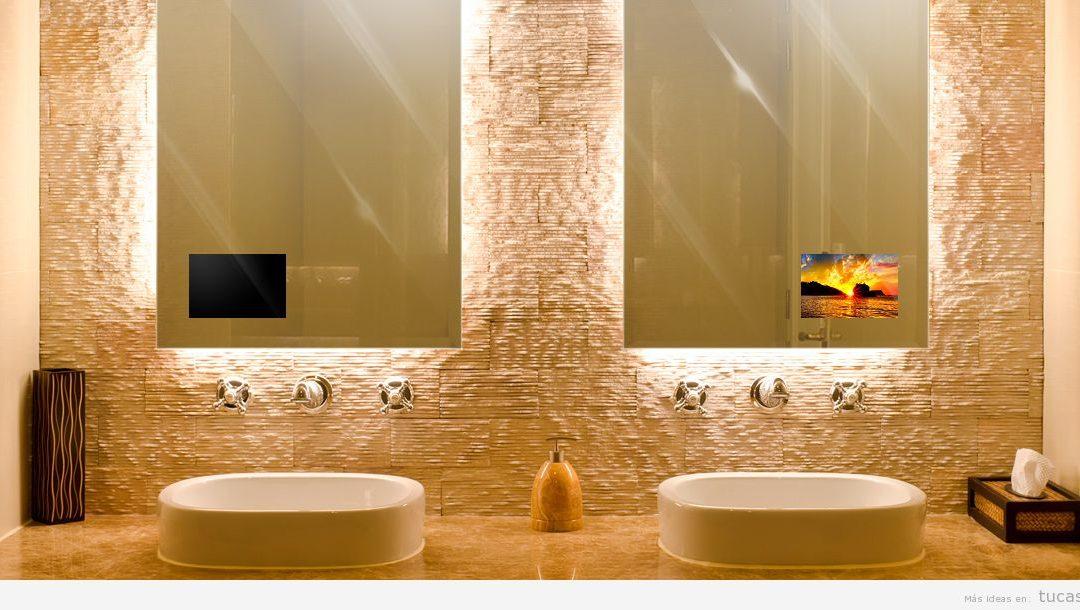 Televisores ocultos en espejo para que la decoración de casa sea perfecta