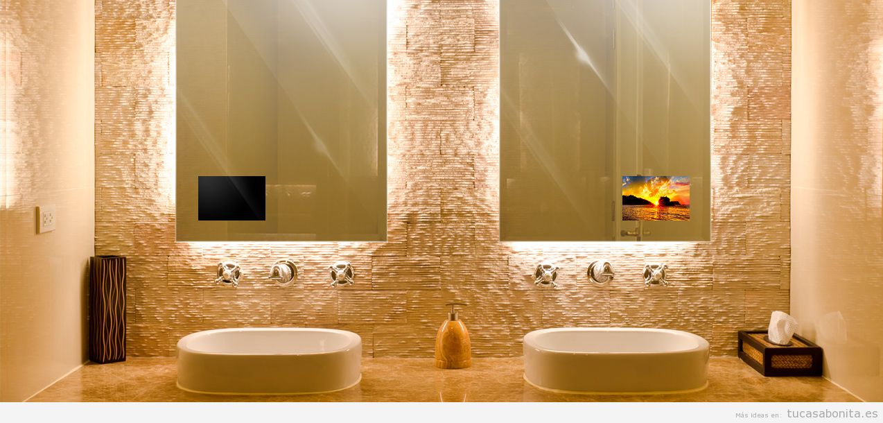 Televisores ocultos en espejo para que la decoración de casa sea ...