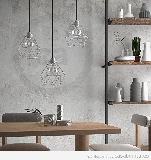 Comprar online lámpara geométrica metal forma diamante 3