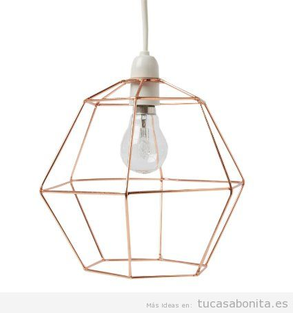 Comprar online lámpara geométricas color cobre barata
