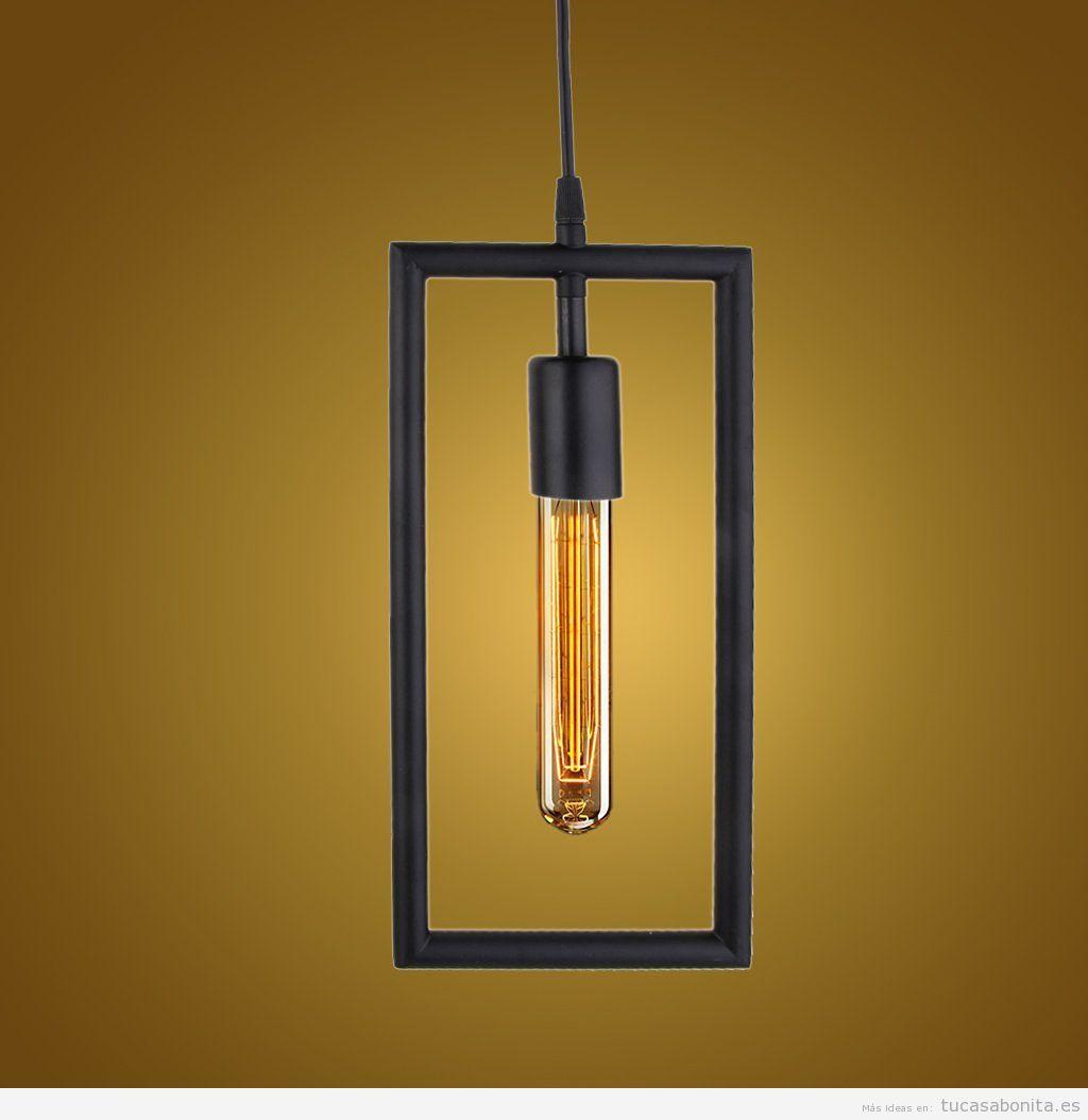 Comprar online lámpara geométria metal rectangular