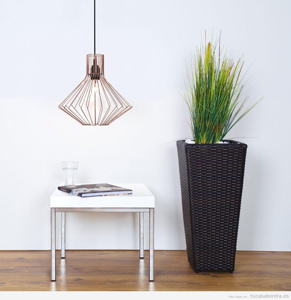 Comprar online lámparas geométricas baratas forma geométrica cobre 2