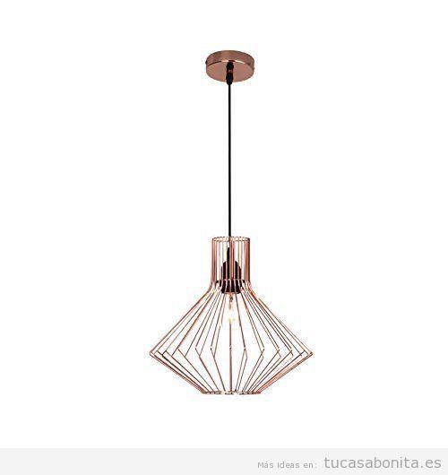 Comprar online lámparas geométricas baratas forma geométrica cobre