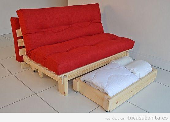 Dormitorios de matrimonio con camas futón
