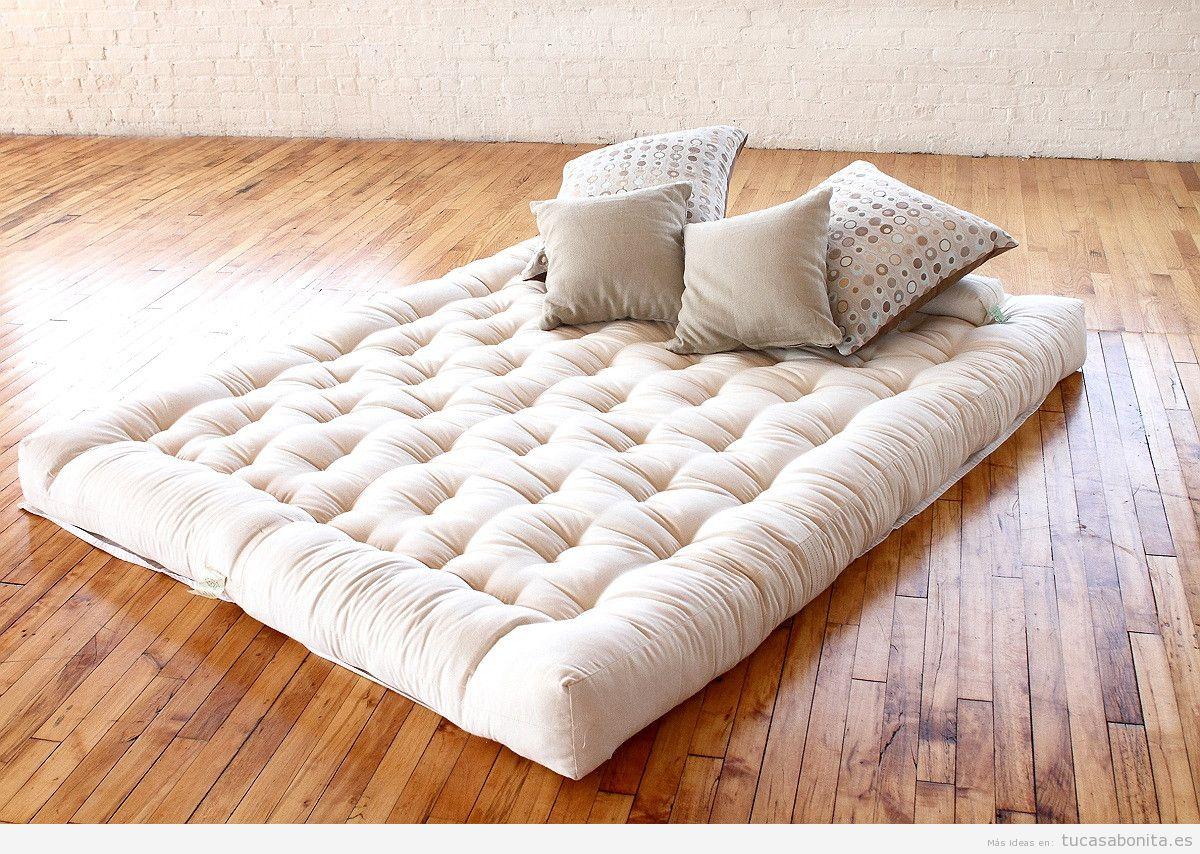 Camas estilo japonés con futón para el dormitorio de matrimonio - Tu ...
