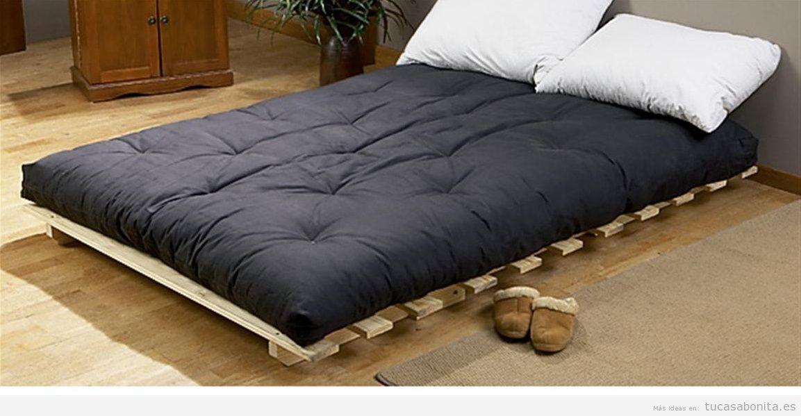 Camas estilo japon s con fut n para el dormitorio de for Cuanto vale un sofa cama