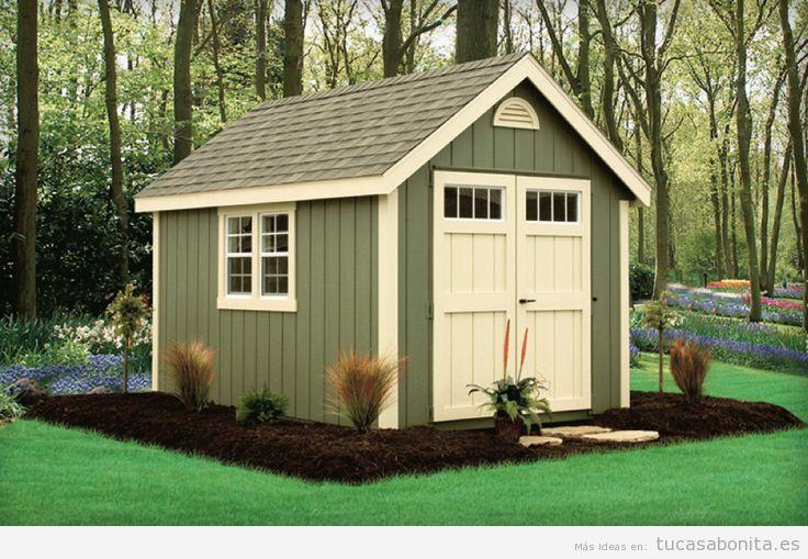 Cobertizos y casetas bonitos para patios y jardines 10