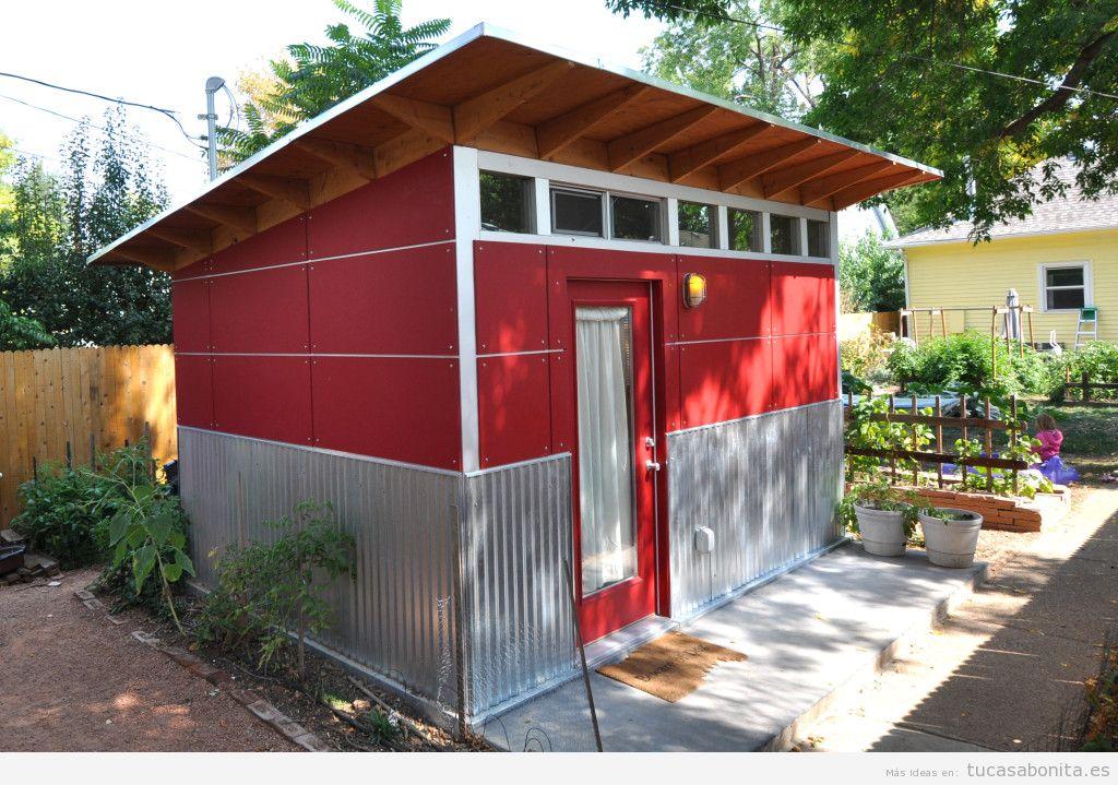 Cobertizos y casetas bonitos para patios y jardines 8