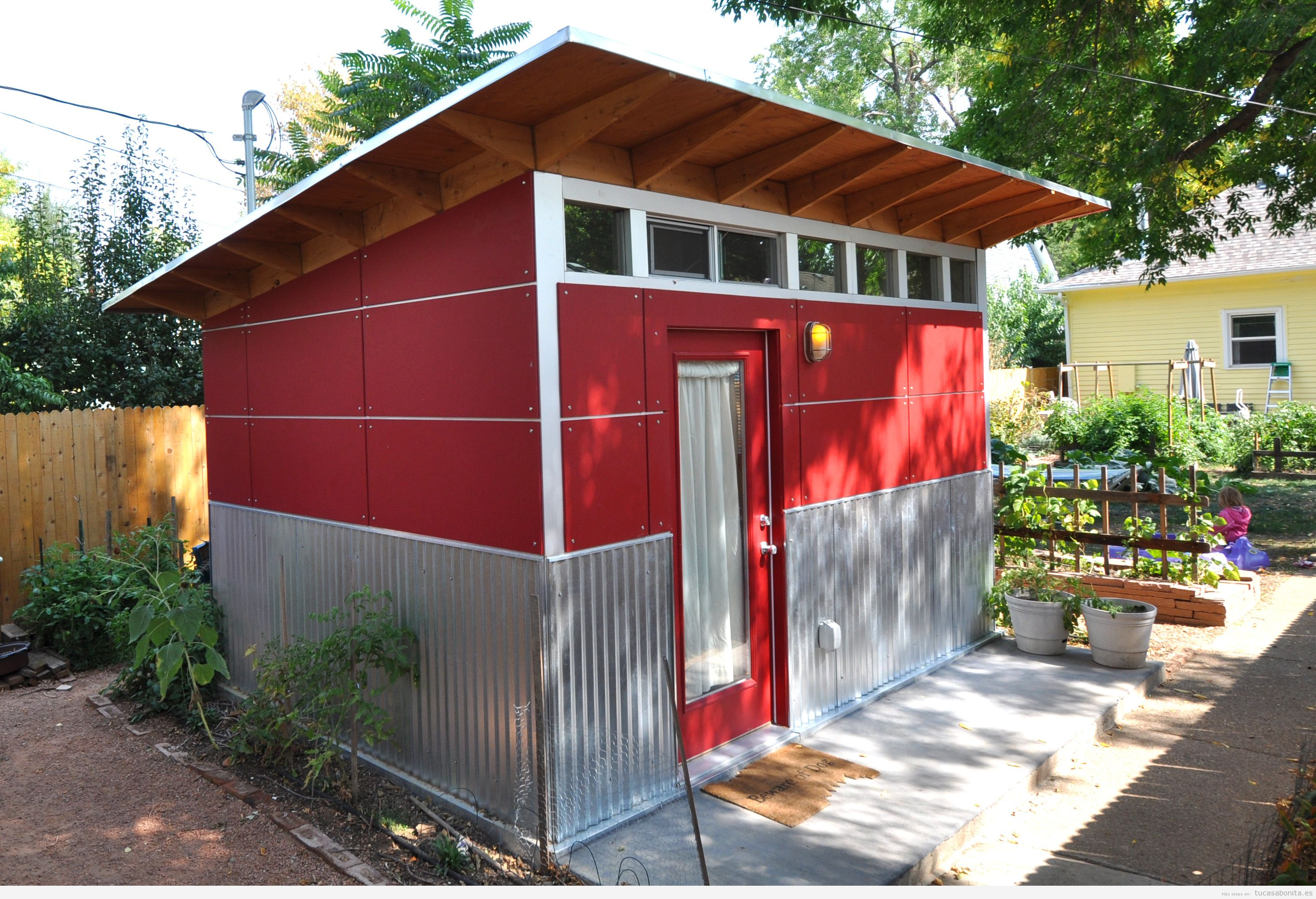 Cobertizos de madera para jardin baratos materiales de for Cobertizo de madera ideas de disenos