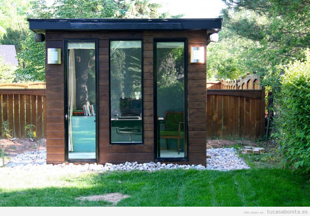 Cobertizos y casetas bonitos para patios y jardines 6