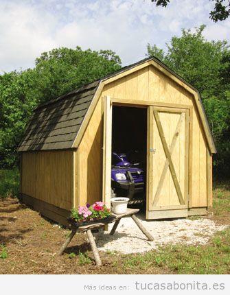 Cobertizos y casetas bonitos para patios y jardines 5