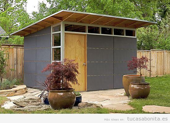 Cobertizos de madera para jardin baratos materiales de for Casetas para guardar herramientas de jardin