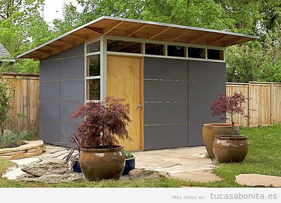 Despacho tu casa bonita ideas para decorar pisos modernos - Cobertizos para jardin ...