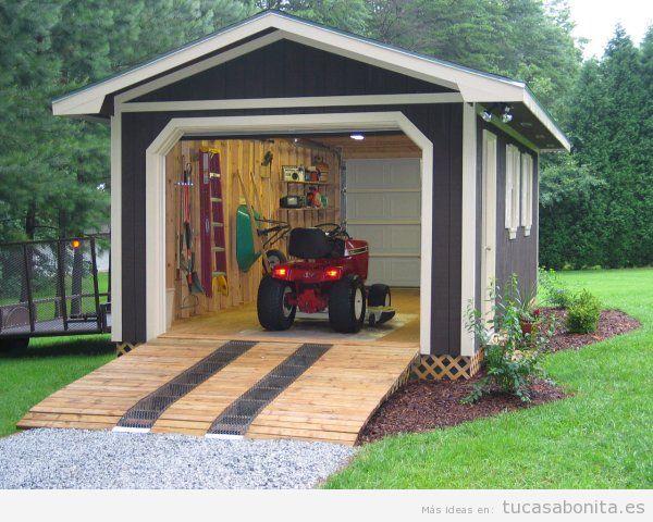 Cobertizos y casetas bonitos para patios y jardines