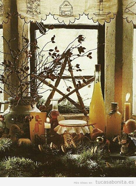 Altares paganos y de naturaleza en casa