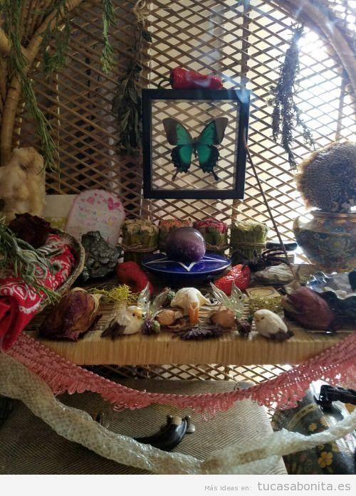 Altares paganos y de naturaleza en casa 3