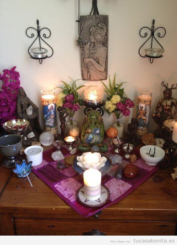 Altares de tarot en casa