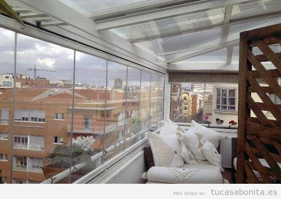Cerar ático con cortinas cristal