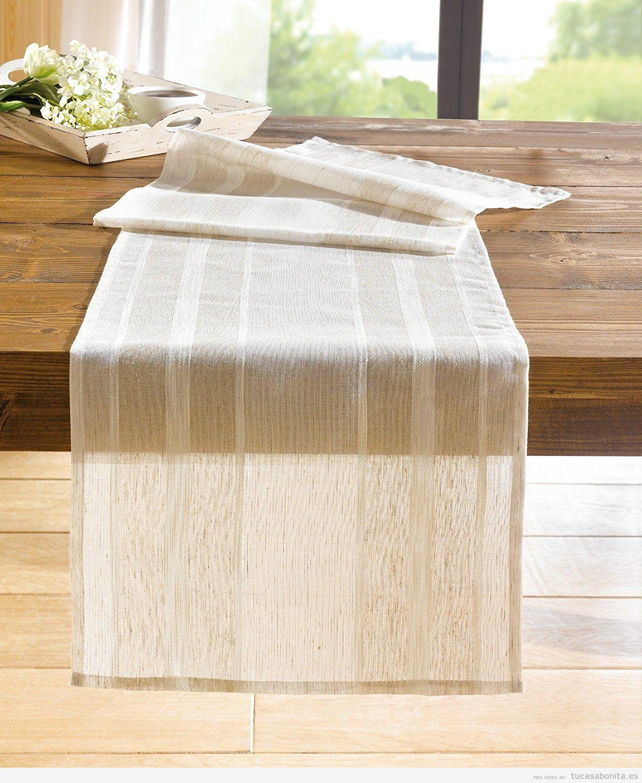 Caminos mesa tu casa bonita ideas para decorar pisos for Camino mesa moderno