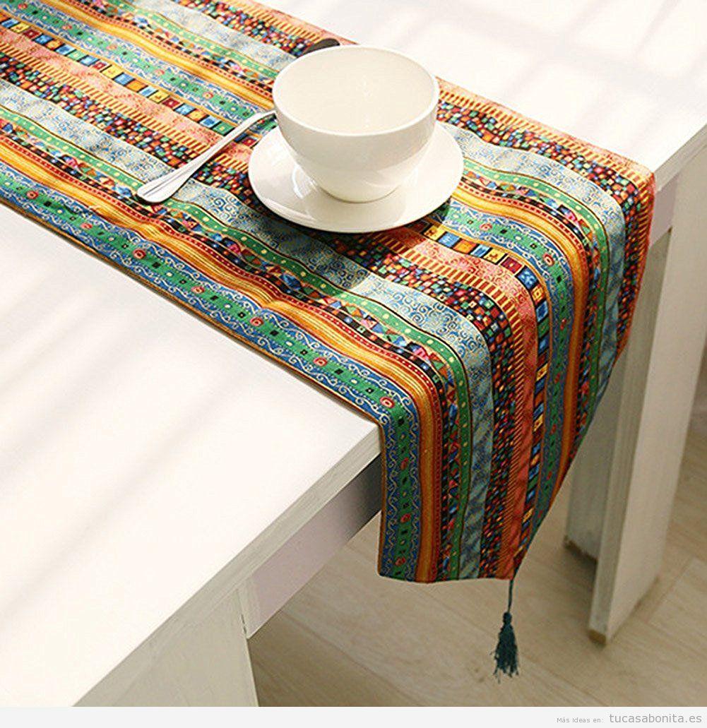 5 caminos de mesa preciosos por menos de 14 tu casa bonita for Caminos para mesas