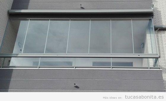 Cerrar balcón cristalera